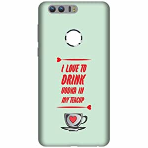 Printland Honor 8 Back Cover Printed Hard Plastic-Multicolor