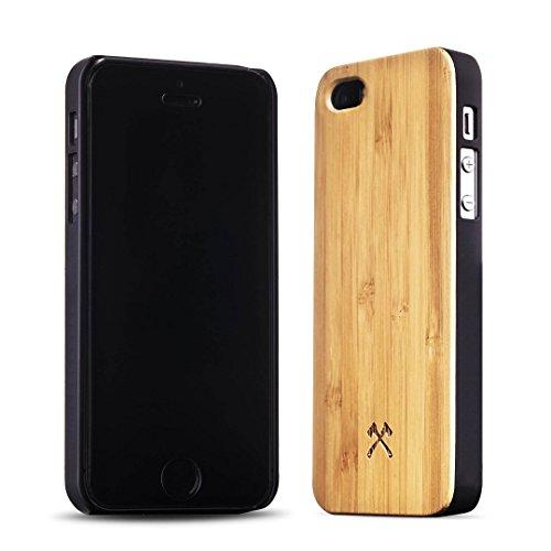 Woodcessories - EcoCase Classic - Premium Design Case, Cover, Hülle für das iPhone aus FSC zert. Holz (iPhone 5/ 5s/ SE, Bambus/ schwarz) (Holz 5s Aus Iphone Case)