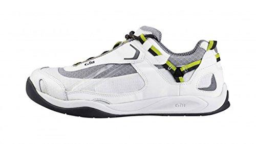 Gill Damen und Herren Bootsschuh Deck Tech Race Trainer, Größe:41 EU, Farbe:White/Lime