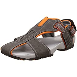 BATA Men's Flash Grey Athletic and Outdoor Sandals - 7 UK/India (41 EU) (8612509)