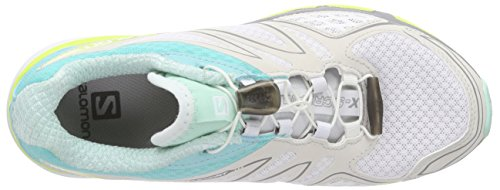 Salomon X-Scream 3D Damen Traillaufschuhe Weiß (White/Bubble Blue/Gecko Green)