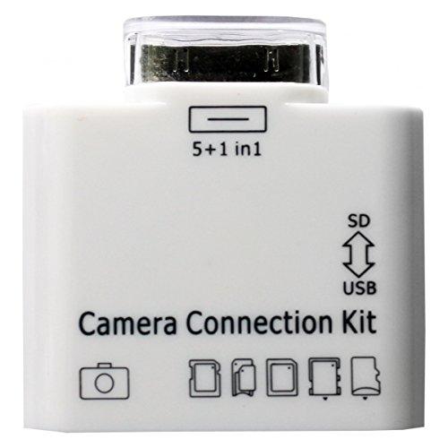 Apple iPad 3 2 1 Kamera Camera Connection Kit 5+1 in 1 USB SD TF 65 MMC SDHC