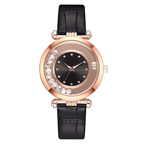 Knowin Damen Uhren Armbanduhr Kristall Mesh Leder Gürtel Damen Quarz Diamant Klassische Mode Romantisch in Rot, Braun, Rosa, Lila, Schwarz, Blau, Weiß