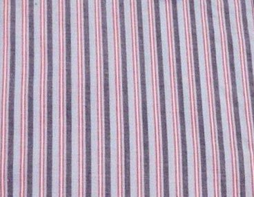 Leichter gestreifter Morgenmantel aus Baumwolle - Blau / Rot - Herren Blau / Rot