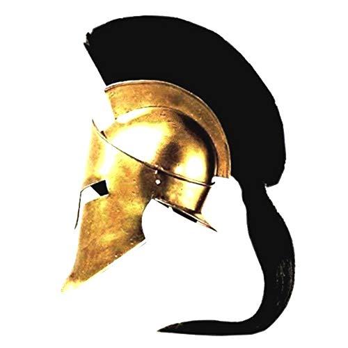 Helm Spartan Kostüm - King Spartan 300 Movie Helmet (King Leonidas)+free helmet stand by ethnic roots