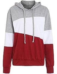 Rosegal Sweat-Shirt à Capuche Femme Hoodie Blouson Automne Chemise Manche  Longue avec Cordon 52878055c62