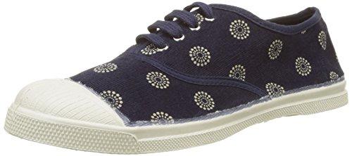 Marine-blau-damen-tennis-schuhe (Bensimon Damen Tennis Corduroy Sneakers, Blau (Marine), 38 EU)