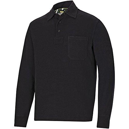 Snickers Rugby Shirt Schwarz Gr. XXL (Baumwolle Rugby Fleece)