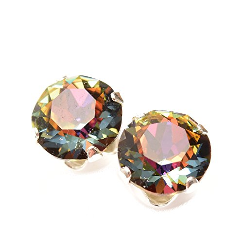 [Sponsored]pewterhooter Rose Gold stud earrings expertly made with Volcano crystal from SWAROVSKI®. Zn4hC