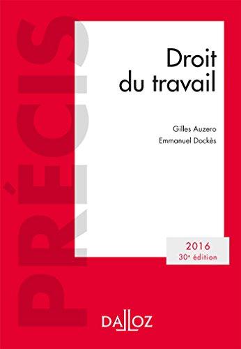 Droit Du Travail Edition 2016 NP