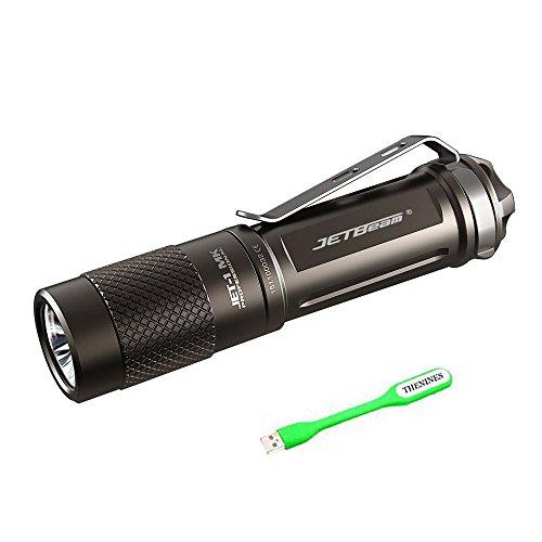 JETBeam I MK (1mk) Kleine Taschenlampe 480 Lumen EDC Taschenlampe Lampe CREE XP-G2 LED wasserdicht Everyday Carring Mini tragbare Fackel mit wiederaufladbare AA Batterie + Die Thenines USB Licht