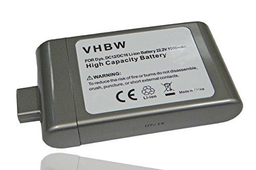 Batteria per aspirapolvere LI-ION 1400mAh 22.2V (grigio) compatibile con DYSON sostituisce BP01, DC16, DC12