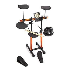 Rockjam TK406 9 Drum Electronic Kit (includes MS310, Bass Drum, Headphones, Drum Sticks)_p