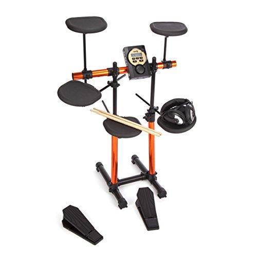 elektronisches schlagzeug fuer anfaenger RockJam RJRDB205 Elektronisches Schlagzeug (7 Trommeln, MS310 Soundmodul, Kopfhörer)