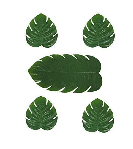a8800–10-gr grün künstliche Tropical Fensterblätter Leaf 5Stück Tischläufer und Tisch-Sets Set, Grün (Hochzeit Tablescapes)