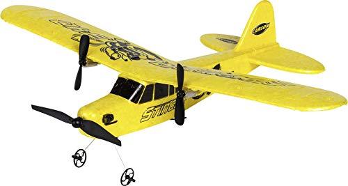 Carson 500505029 500505029-Stinger 340 2.4G RTF, Ferngesteuerte Flugmodelle, Modell, RC Flugzeug, inkl. Batterien und Fernsteuerung, 100{2aba5046fa29731440bb9738edb27013f25006e22ecb8897a3981c1988f49c05} flugfertig, gelb