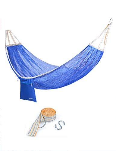 Camping en plein air Léger, Engrener Anti-retournement unique hamac de plein air Balançoire adulte enfant intérieur hamac 190 * 125cm ( Couleur : 2 )