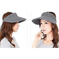Wangwen Visera De Verano Hembra Sombrero Fresco Casual Primavera Y Verano Al Aire Libre Mujer Protección Solar Sombrero para El Sol Tamaño: Código Promedio (54-60cm) Ajustable