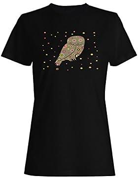 Regalo divertido del animal retro del búho camiseta de las mujeres f660f
