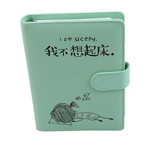 LLZIYANThick Classic Notizbuch, Pen Loop Wide Ruled Hardcover Schreibheft mit Pocket Page Dividers Geschenken, Grün