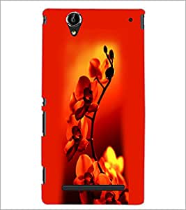 PrintDhaba Beautiful Flowers D-1182 Back Case Cover for SONY XPERIA T2 ULTRA (Multi-Coloured)