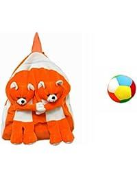 Jrp Mart Orange Twins Bear Soft Toy Bag With Little Ball - B072JTTSJL