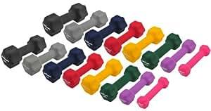 Neopren Gymnastik Hanteln Hantel Gewichte - Frei wählbare Gewichtsabstufungen, 2 x 0,5Kg Gymnastikhantel Pink
