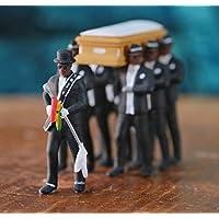 GHFHH Negro portando Una bara African Coffin Dance Una Bambola bara Collezione di Giocattoli Personaggio Animato Modello Statua Auto Decorazione Domestica Regali Manuale