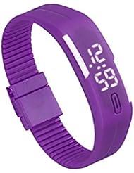 Reloj para hombre de goma LED para mujer Reloj deportivo unisex Fecha Pulsera Reloj digital (G)