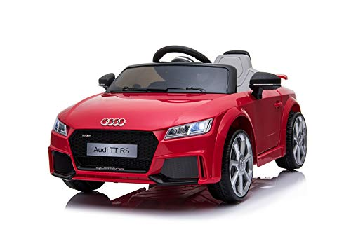 Toyas Lizenz Audi TT RS Kinder Elektrofahrzeug Kinderfahrzeug Kinderauto Elektroauto 2X 30W Motor Rot