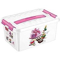 Sunware Q-Line Fun-Baking Decor Box, White Pink, 6 Litre