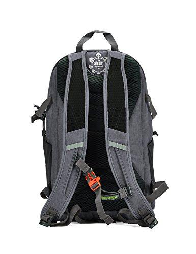 Showtime Rucksack Wanderrucksack Daypack mit Fach für Regenhülle für Kinder Herren Frauen, 28 liter Grau