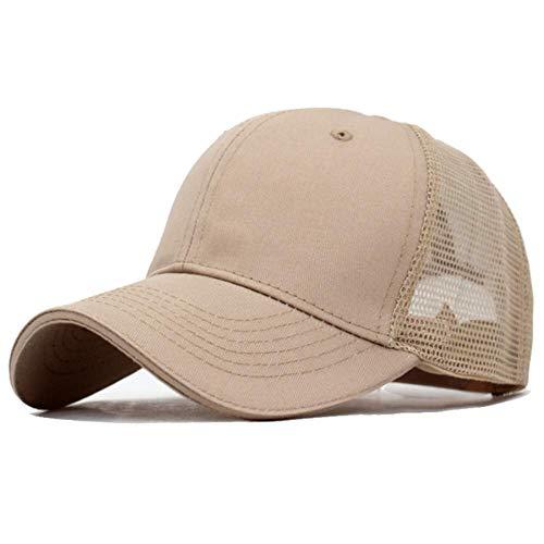 Ausgestattet Khaki (GONGFF Baseballmütze Sommer baseballmützen Frauen sonnenhüte für männer Sport Knochen Papa mesh ausgestattet baseballmützen Kappe persönlichkeit Hut (Farbe: Khaki, größe: 5560 cm))