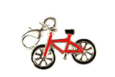 Fahrrad Charm Anhänger Bettelarmband Miniblings Rad Bike Metall emailliert rot