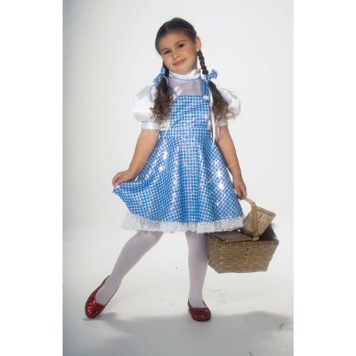 Sequin Dorothy Wizard of Oz Fancy Dress Girls Book Week Story Book Kids Costume