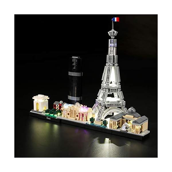 LIGHTAILING Set di Luci per (Architecture Parigi) Modello da Costruire - Kit Luce LED Compatibile con Lego 21044 (Non… 2 spesavip