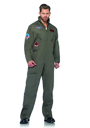 Leg Avenue Men'Top Gun Pilotenbrille Suit Flight s & Kostüm für (Flight Herren Top Gun Suit)