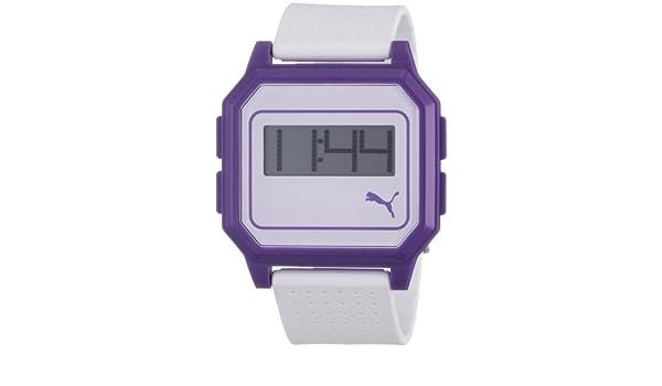Details zu Puma Uhr Armbanduhr Damen Flat Screen Weiß Lila PU910951007