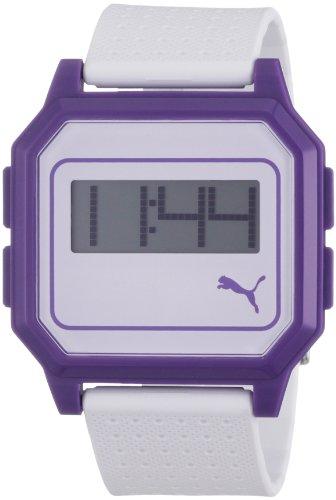 Puma Time - Reloj digital de cuarzo para mujer con correa de plástico, color