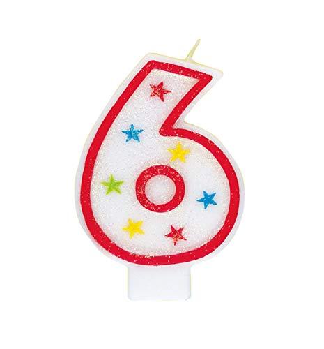 Única 23194-6 - Velas escarcha un número, Accesorios fiesta de cumpleaños