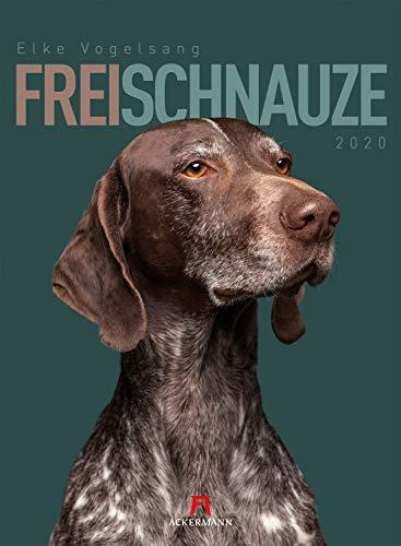 Frei Schnauze 2020, Wandkalender im Hochformat (33x45 cm) - Tierkalender / Hundekalender mit Monatskalendarium