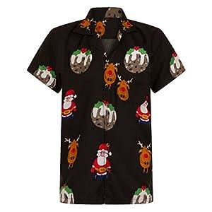f8424c7c2 Christmas Hawaiian Shirt Mens Santa Loud Hawaii Reindeer Xmas Party S M L  XL XXL