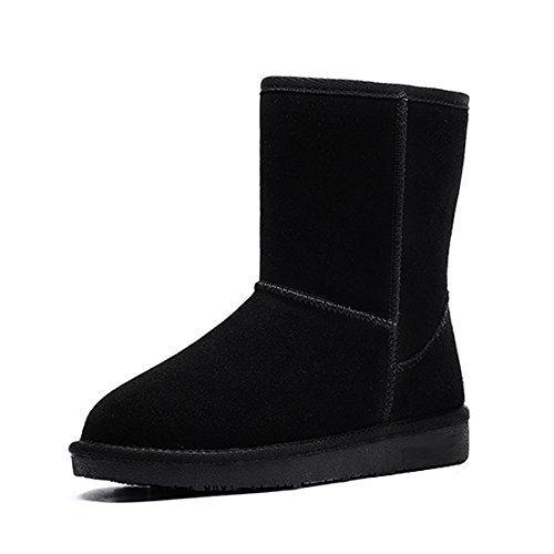 Classic warm Snow Boots nel tubo non-slip caldo cotone scarpe black