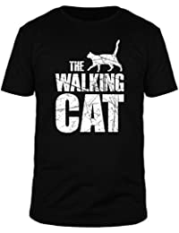 FabTee Walking Cat Vintage - Men Organic Cotton T-Shirt - Size S-3XL