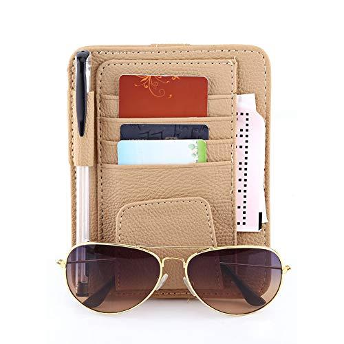 Auto Auto Sonnenschutz Abdeckung Sonne, Lagerung Inhaber Clipper Bag Inhaber Bag Organizer, Brillenhalter Clip(Beige) - Foto-hinweis-card-inhaber