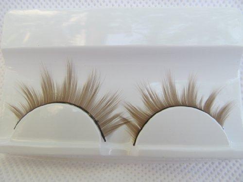 fat-catz-copy-catz - 1 Paar hochwertiger, dicker künstlicher Augenbrauen für Kostüme oder Verkleidungen - Einheitsgröße, A-1 Braune/blonde Wimpern