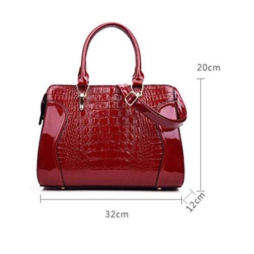 Frau Lackleder Tasche Krokodilmuster Handtasche Europa Und Den Vereinigten Staaten Der Trend Stereotypen Handtaschen Schulter Messenger Bag Blue