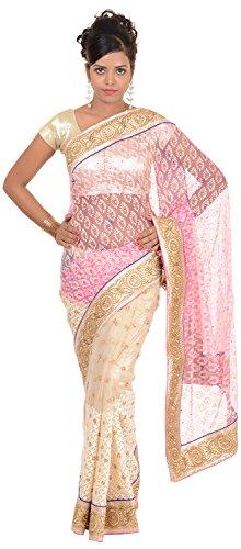 Murari Sarees Women's Brasso Net Saree (MurSari012