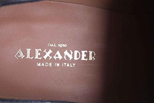 Alexander Chaussures Hommes Plein Cuir Fait A La Main Noir Noir