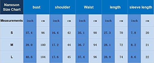 Nanxson Unisex Herren Frauen Operationskittel Lab Medizin Uniform Arbeitskleidung ME0002 (Grün, S) - 7